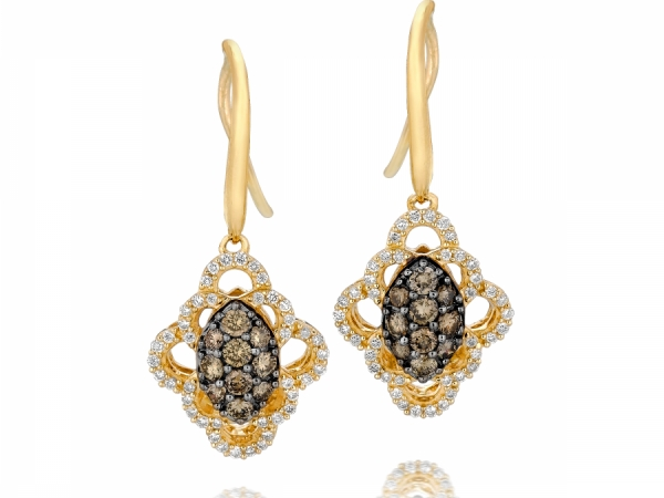 LeVian Chocolate and Vanilla Diamond earrings by Le Vian