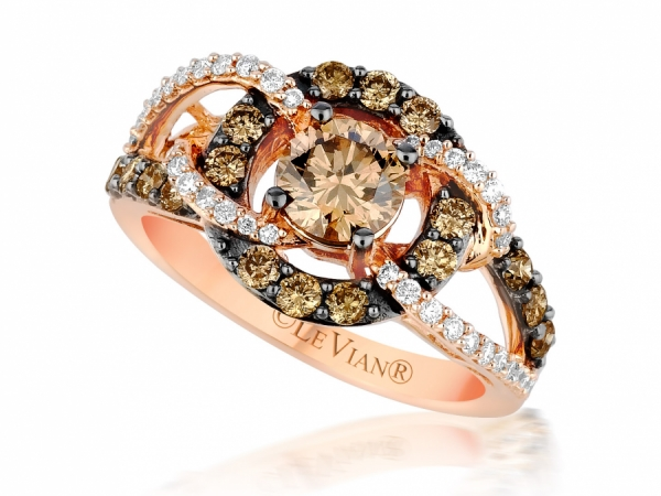 LeVian Chocolate and Vanilla Diamond Ring by Le Vian