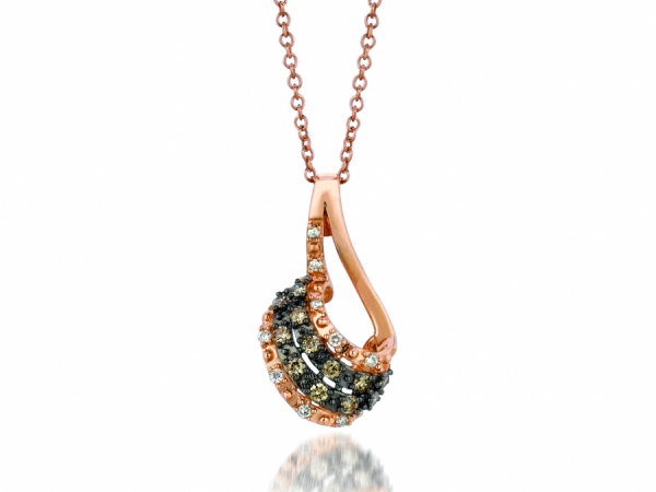 LeVian Chocolate and Vanilla Diamond Pendant by Le Vian